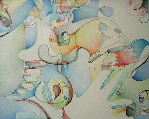 Gary's Abstract, Colored Pencil
